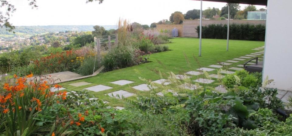 1 view across garden